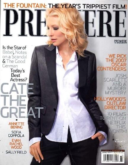 Cate Blanchett sulla cover di Premiere