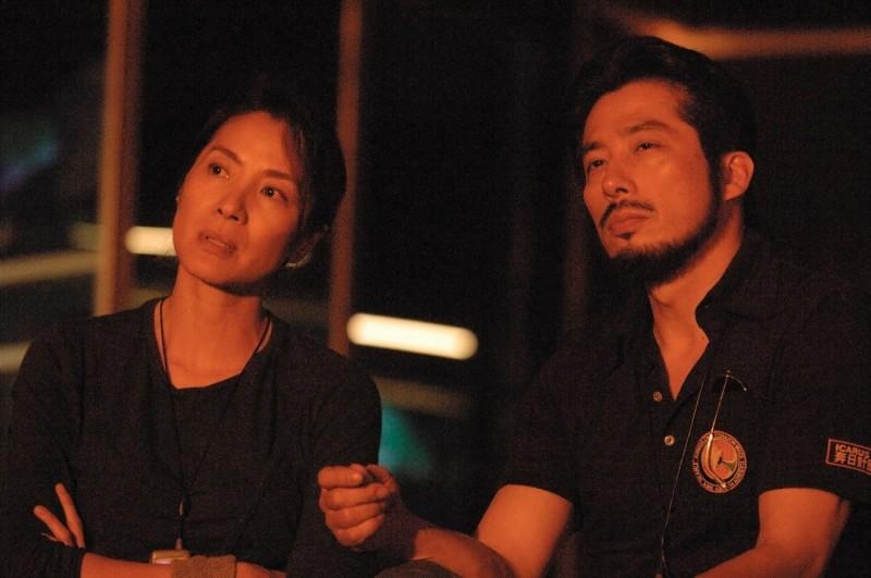 Hiroyuki Sanada e Michelle Yeoh in una scena del film Sunshine