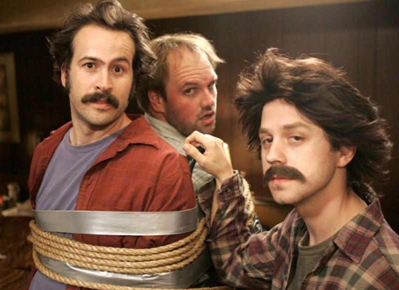 Jason Lee, Ethan Suplee e Giovanni Ribisi in una scena di My Name Is Earl