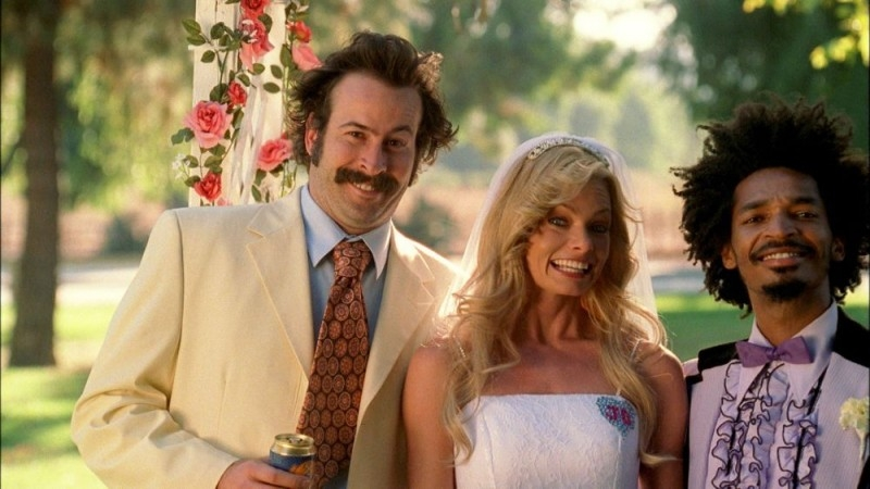 Jason Lee, Jaime Pressly e Eddie Steeples in una scena di My Name Is Earl