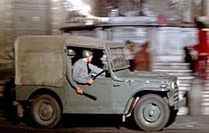 Una scena del film Roma di Fellini
