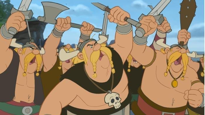 Una scena dal film Asterix e i Vichinghi