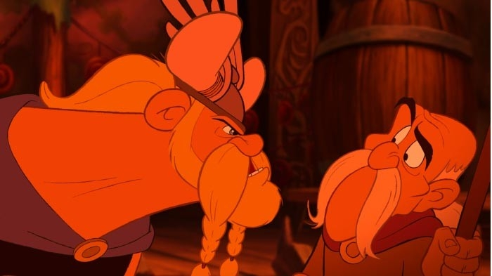 Una scena del film Asterix e i Vichinghi
