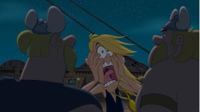 Una scena del film Asterix e i Vichinghi, film d'animazione del 2006