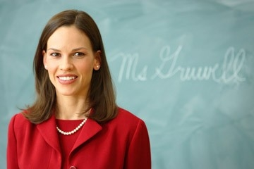 Hilary Swank in una scena del film Freedom Writers