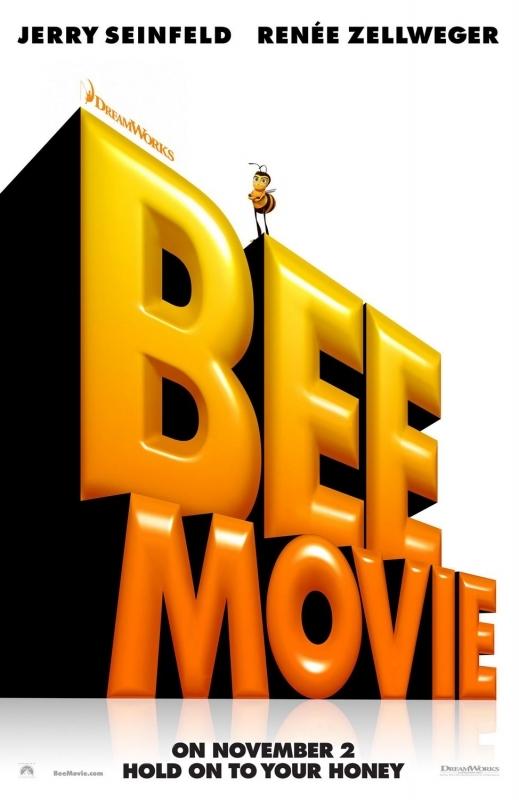 La locandina di Bee Movie con il logo del film