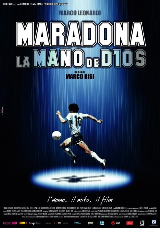 La locandina di Maradona - la mano di Dio