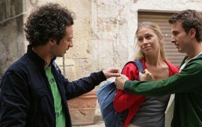 Ficarra e Picone con Eleonora Abbagnato in una scena del film Il 7 e l'8