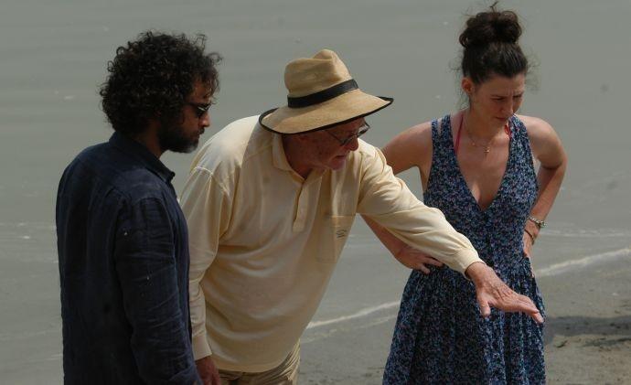 Raz Degan e Ermanno Olmi sul set del film Cento chiodi