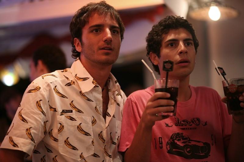 Daniele De Angelis e Nicolas Vaporidis in una scena del film Last Minute Marocco