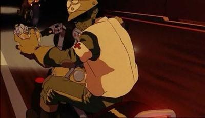 Una scena del film d'animazione Akira