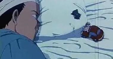 Una scena del film Akira (1988)