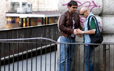 Massimo Bonetti in una scena del film Il Lupo nel quale ha interpretato il 'bandito' Luciano Liboni