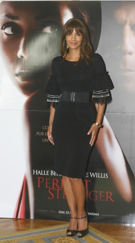 Halle Berry a Roma per la presentazione del film Perfect Stranger