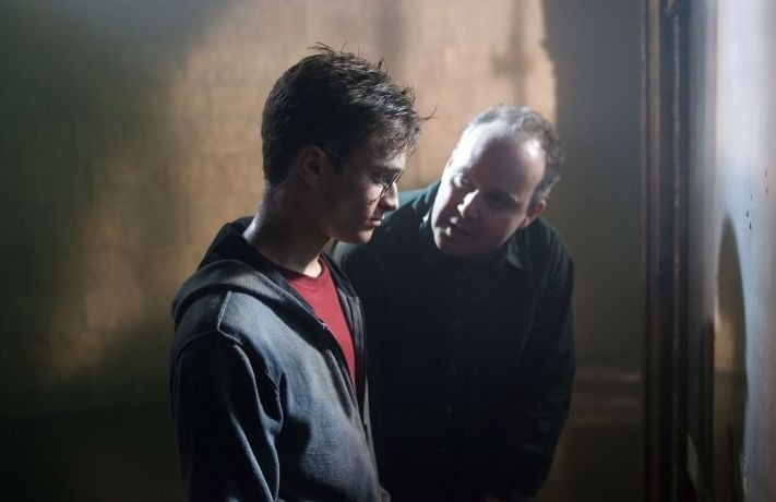 Daniel Radcliffe e David Yates sul set del film Harry Potter e l'Ordine della Fenice
