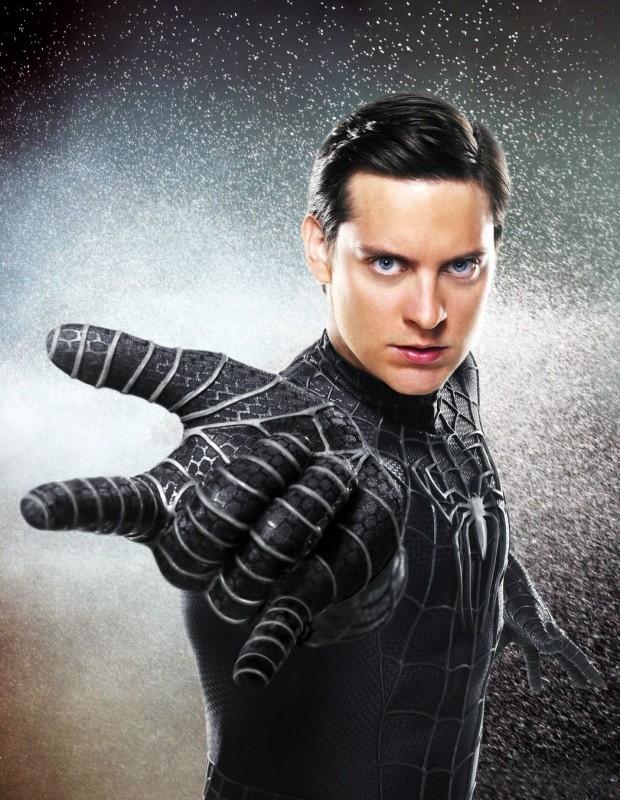 Tobey Maguire in una foto promo di Spider-Man 3
