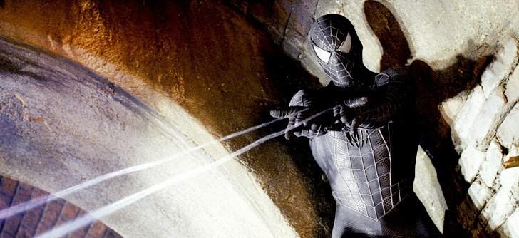 Un inedito costume per Tobey Maguire in una scena di Spider-Man 3