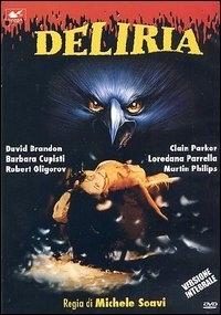 La copertina DVD di Deliria