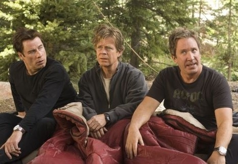 John Travolta, Tim Allen e William H. Macy in Svalvolati on the Road