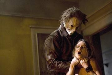 Tyler Mane e Hanna Hall in una scena del film Halloween
