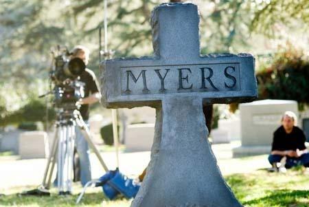 Una foto scattata sul set di Halloween