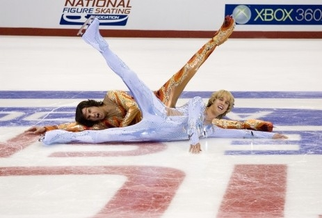 gli atletici Will Ferrell e Jon Heder in una scena di Blades of Glory