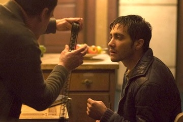 Jake Gyllenhaal in una scena del thriller Zodiac