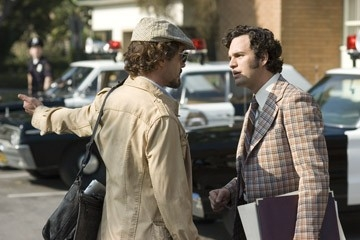 Robert Downey Jr. e Mark Ruffalo in una scena del film Zodiac
