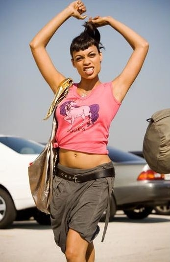 Rosario Dawson  in una scena del film Death Proof, episodio del double feature Grind House
