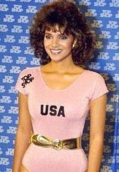 Una giovanissima Halle Berry nell'86, ad un concorso di bellezza