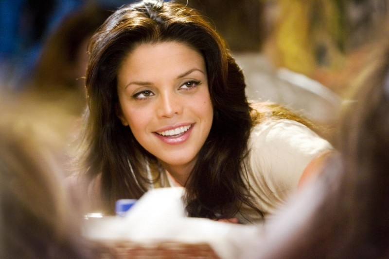 Un primo piano di Vanessa Ferlito in una scena del film Death Proof, episodio del double feature Grind House
