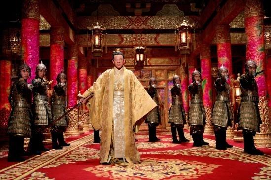 Una scena del film La città proibita di Zhang Yimou