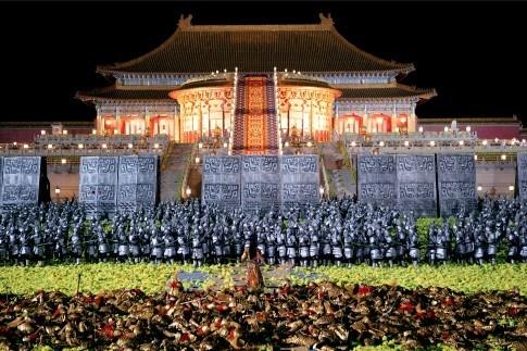 Una scena del film di Zhang Yimou La città proibita