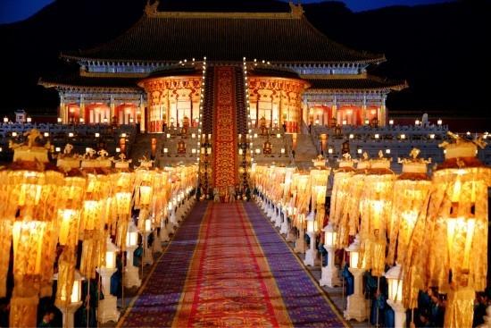 Una scena del film La città proibita diretto da Zhang Yimou nel 2006