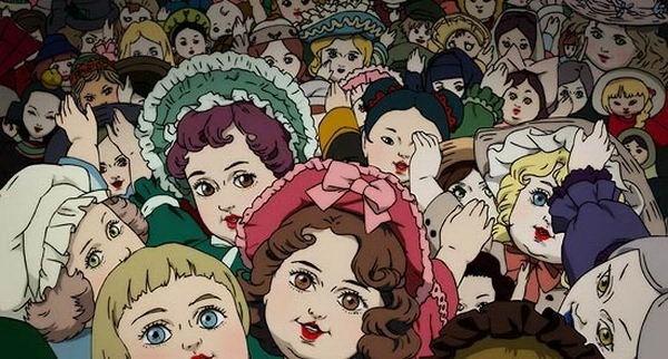 Una scena del cartoon  Paprika - Sognando un sogno, diretto da Satoshi Kon