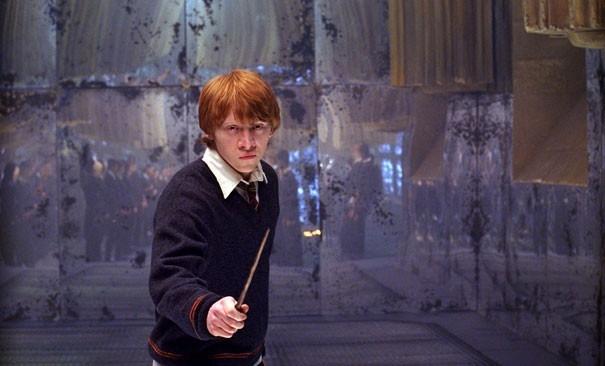 Rupert Grint in una scena del film Harry Potter e l'Ordine della Fenice