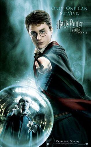 Poster promozionale per Harry Potter e l'Ordine della Fenice con Radcliffe