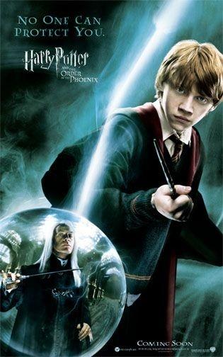 Poster promozionale per Harry Potter e l'Ordine della Fenice con Rupert Grint
