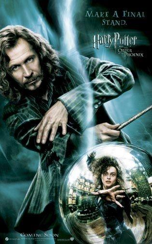Poster promozionale per Harry Potter e l'Ordine della Fenice con Gary Oldman
