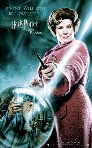 Poster promozionale per Harry Potter e l'Ordine della Fenice con Imelda Staunton