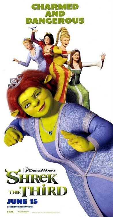 Poster promozionale per Shrek the Third con la principessa Fiona