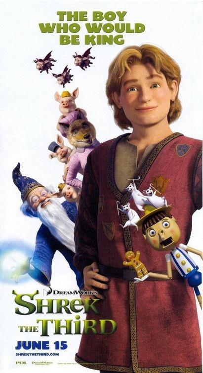 Poster promozionale per Shrek the Third con il Principe Azzurro