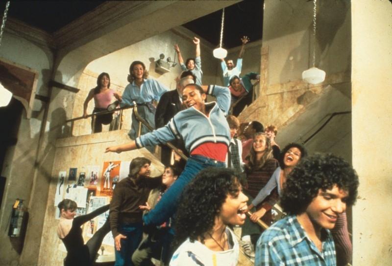 Gene Anthony Ray, Erica Gimperl e Lee Curreri scena di 'Saranno Famosi'