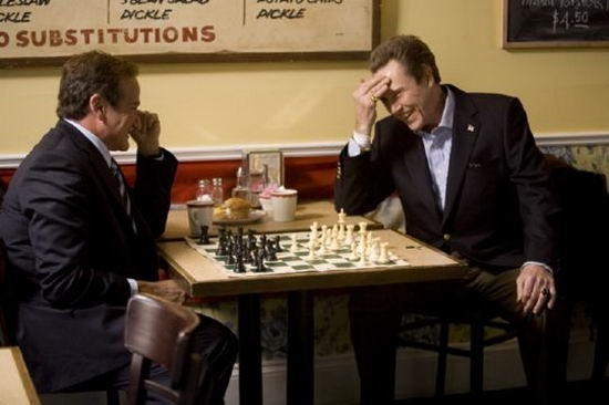 Robin Williams e Christopher Walken  in una scena de L'uomo dell'anno