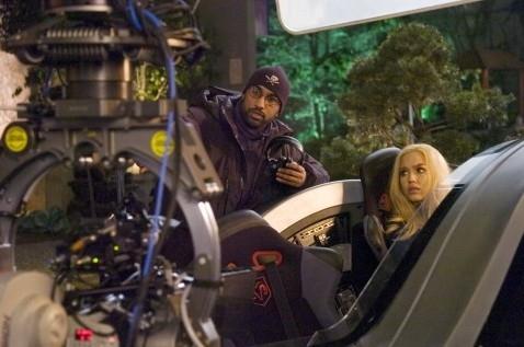Tim Story e Jessica Alba sul set de I fantastici 4 e Silver Surfer