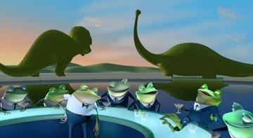 Una scena del film I Robinson - Una famiglia spaziale