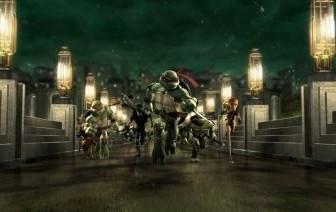 Una immagine tratta dal film TMNT