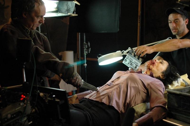 Dario Argento sul set del film La terza Madre, capitolo conclusivo della trilogia delle Tre Madri