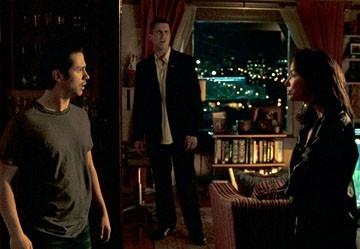Eva Longoria, Christian Bale e Freddy Rodriguez in una scena del film Harsh Times - I giorni dell'odio