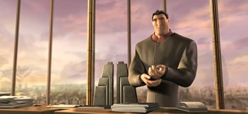Una immagine tratta dal film d'animazione di TMNT